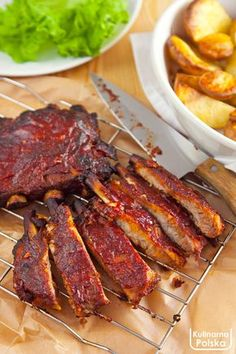 Bbq Grill, Grilling, Żeberka Bbq, Food Inspiration, Steak, Food And Drink, Cooking Recipes, Homemade, Meals