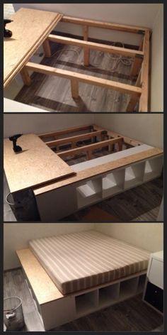 podest selber bauen bauanleitung mit bildern neue betten braucht das land pinterest diy. Black Bedroom Furniture Sets. Home Design Ideas