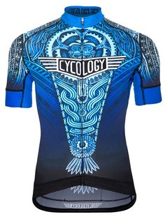 Aztec (Blue) men s cycling jersey from Cycology. Available now. FREE  SHIPPING ON aa55b24f2