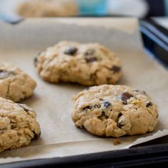 3 favorite cookies rolled into 1! Peanut Butter, Chocolate Chip & Oatmeal-Raisin.