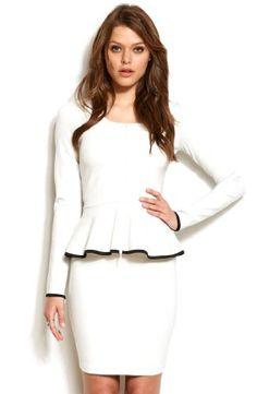 Armani Exchange Womens Peplum Jacket $98 #Jackets  #Blazers  #Apparel