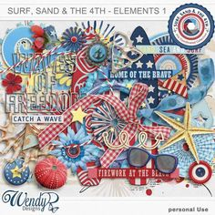 Promotions :: Featured Coordinated Collection :: Surf, sand and the 4th - Elements 1