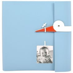 Pinetti Leather Baby Photo Album with Stork $136 photos only