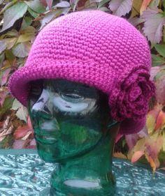 Rose Ladies Crochet Hat Pattern by DesignedbySonya on Etsy