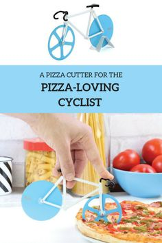 A bicycle pizza cutter for the pizza-loving cyclist in your life! Fun item that comes in different colors that can be used as a pizza cutter, or it even works well for decoration on your desk at work. This bike is so advanced it even comes with a kickstand. :) Fun cycling gifts for cyclists.