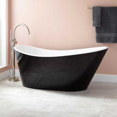 Saunders Black Acrylic Freestanding Tub