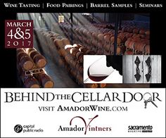 Amador Vintner's wine experience Behind the Cellar Door is the premier weekend for wine enthusiasts filled with Barrel Samples & Wine Seminars – Behind the Cellar Door is one of THE most entertaining AND educational wine events anywhere, Behind the Cellar Door features a commemorative wine glass for your barrel tastings as well as food pairings, themed seminars and demonstrations guaranteed to enhance your knowledge and appreciation of remarkable Amador wines.