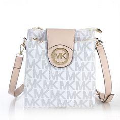 Fashion Michael Kors Fulton Saffiano Logo Small White Crossbody Bags Online!