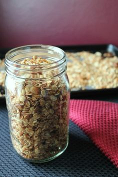 Coconut almond granola. Clean eating granola recipe. Perfect for breakfast or lunch! #cleaneating