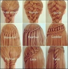 Braided Hairstyles ! OMG - Inspiring Ideas | Hairstyles |Hair Ideas |Updos I really like the ladder and twist
