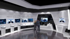 展厅设计 on Behance Interior Design Exhibition, Exhibition Display, Exhibition Space, Shop Interior Design, Tv Built In, Built In Shelves, Stand Design, Display Design, Museum Displays