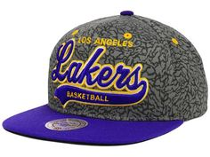 Los Angeles Lakers Mitchell and Ness NBA E-Print Tailsweep Snapback Cap Hats eecf4223a