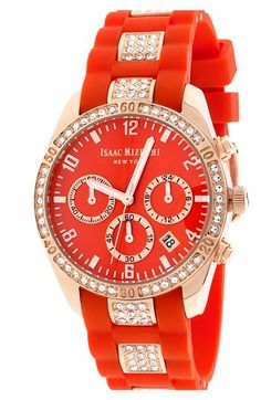 Isaac Mizrahi New York Crystal Accent Chronograph Watch, 38mm available at #Nordstrom