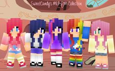 mlp minecraft skins (They forgot applejack. Minecraft Skins My Little Pony, Minecraft Mädchen Skins, Cool Minecraft, Minecraft Mods, Minecraft Party, Mlp, Mc Skins, We Are Best Friends, Little Poney