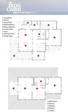 Blog Cabin 2013: Floor Plans