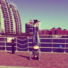 Sirsasana • Headstand | Salford Quays | Manchester #yogaoutside