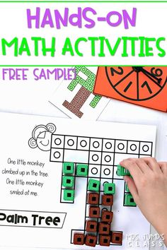Free Sample! Hands-on math activities using snap cubes for kindergarten and first grade. Fun activities for any time of the day!   #handsonmath #mathactivities #kindergartenmath #1stgrademath #anytimecenters