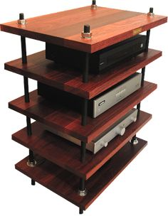 Wood Audiophile Shelves Design