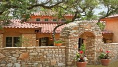 Spanish style home built in Austin
