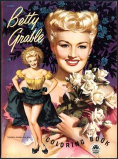 Betty Grable Coloring Book