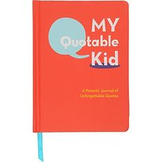 If your kids say the darndest things, keep a record of their most humorous and insightful maxims to share with them later or relive with your family and friends now. $15