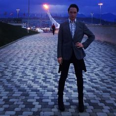Johnny Weir at the Sochi Winter Olympics.