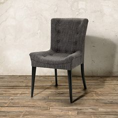 "Grammercy 22"" Upholstered Tufted Chair in Hudson Iron"