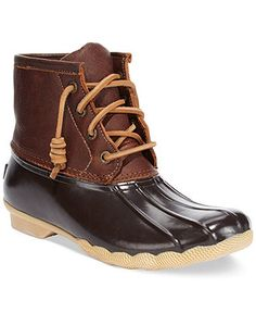 My new winter boot: Sperry Top-Sider Women's Salt Water Duck Booties - Shoes - Macy's