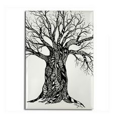 Zentangle Tree - Oh! I have to do this!!