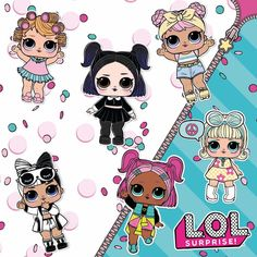 Calling all true L.O.L. fans! Can you name all these characters from the Confetti Pop Series? #lolsurprise #lolsurprisepets #collectLOL#doll #collect #dollcollect