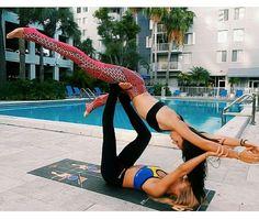 Acro yoga #yogaeverydamnday wearing Perspectives Yoga Wear