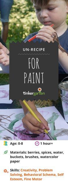 Turn crafting into real making by handing it over to your kids. Give kids the chance to write the recipe and do the making when they transform berries, spices and earth into paint. Click through to learn how.