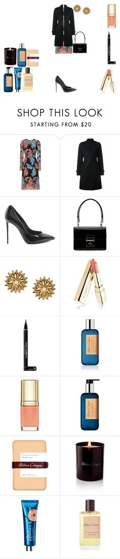 """""""Orange Sanguine"""" by rascaldiva ❤ liked on Polyvore featuring Dolce&Gabbana, Burberry and Atelier Cologne"""
