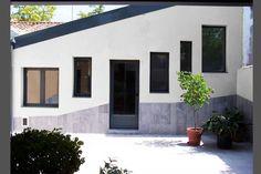 Ideas de #Exterior, Loft, Patio, estilo #Contemporaneo color  #Blanco,  #Gris,  #Negro, diseñado por AIMA Estudio  #CajonDeIdeas