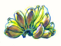 Bananas Fruits And Veggies, Bananas, Painting, Art, Fruits And Vegetables, Art Background, Painting Art, Kunst, Paintings