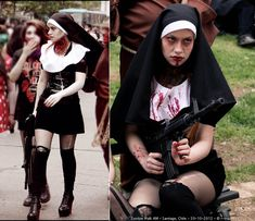 zombie nun savior. image: http://lookbook.nu/look/4176964-Zombie-Walk more halloween fashion ideas: http://famecherry.com/fashionista-now/fashionista-now-spooky-2012-halloween-fashion-ideas/