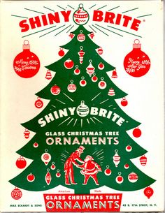 Christmas in July ~ Shiny Brite Ornaments Retro Christmas Decorations, Vintage Christmas Images, Glass Christmas Tree Ornaments, Antique Christmas, Christmas Items, Christmas Love, Vintage Holiday, Christmas Crafts, Merry Christmas