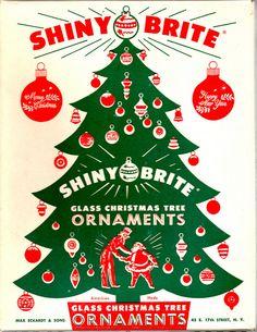 Shiny Brite Christmas ornaments box