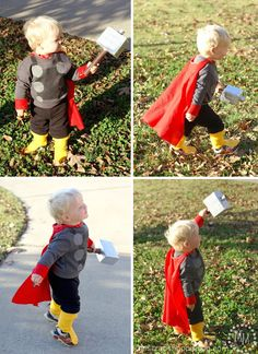 DIY: Baby Thor costume for the little man.