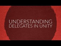 - Delegates and Actions Introduction I Am Game, Unity, Action, Youtube, Group Action, Youtubers, Youtube Movies