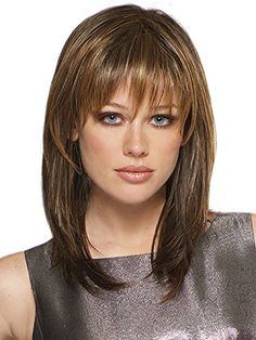 This natural looking synthetic fibre wig is in a straight shoulder length style it is extremely realistic up close thanks to the highlights running through the high quality kanekalon fibresThis wig by HMY will give you a very feminine and fashionable hairstyle the overall look will frame and brighten your face