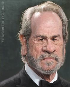 Tommy lee jones caricature portrait painting. by orange buddhas | Caricature | 2D | CGSociety