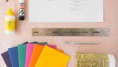 Handmade Weddings: Make Your Own Glittery Gem Inspired Bridal Shower Invitations