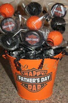 Harley Davidson Cake Pops for Father's Day