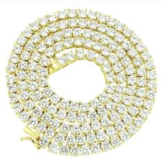 Bling Bling NY New One Row Tennis Necklace Bracelet Set Gold Finish Lab Created Diamonds 4MM Iced Out Solitaires