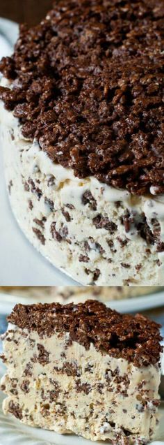 This Nutella Crunch Ice Cream Cake from A Family Feast is everything you love about Nutella and Ice Cream in one DELICIOUS dessert! With only 3 simple ingredients that combine into one fantastic and super easy to make out of this world treat!