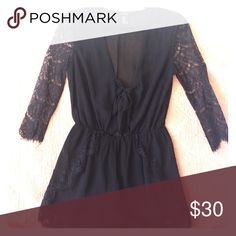 Fancy Romper Forever 21. Romper. Lace. Chiffon. Low cut as top is tied under the breast line. Forever 21 Other