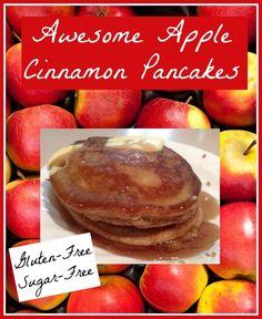 Awesome Gluten-Free Sugar-Free Apple Cinnamon Pancakes