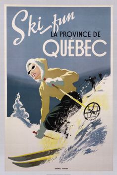 Vintage ski poster #Skiing -- Find articles on adventure travel, outdoor pursuits, and extreme sports at http://adventurebods.com