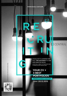 Recruitment Poster from VisualCast Designology - Surabaya, Indonesia - and it's still valid. #visualcast
